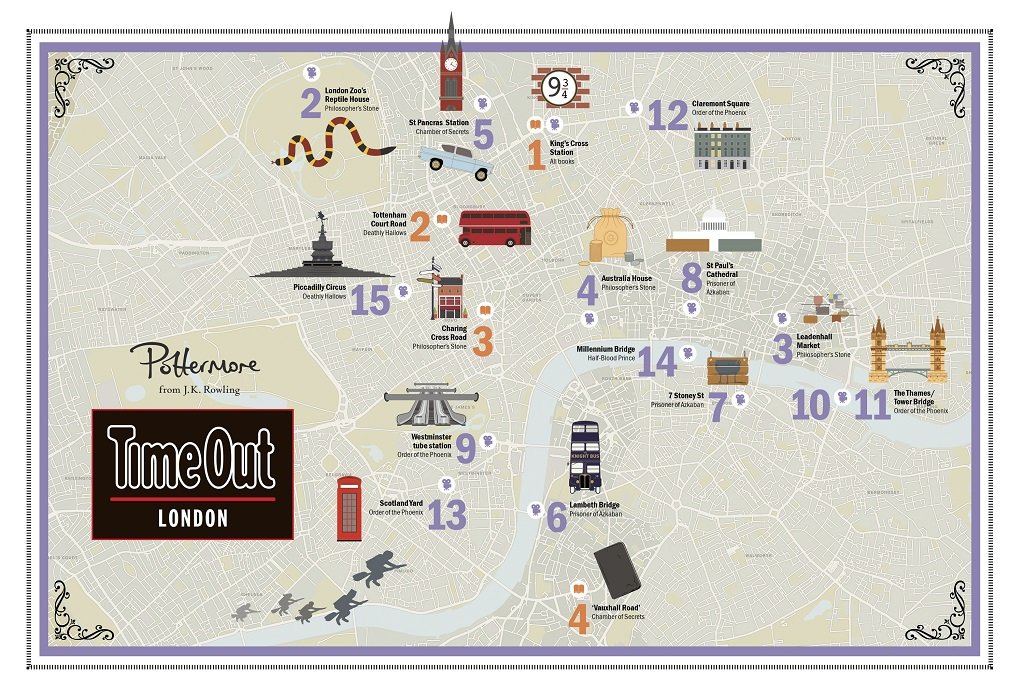 Londra Cartina.Harry Potter A Londra La Mappa Con Tutti I Luoghi Della Saga
