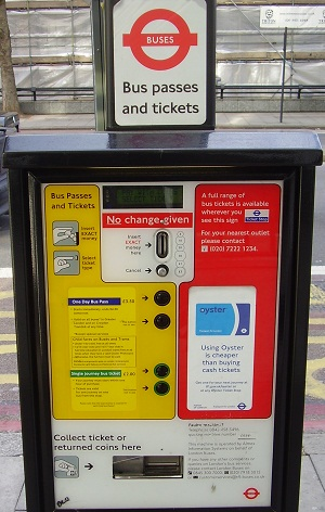 London bus ticket machine