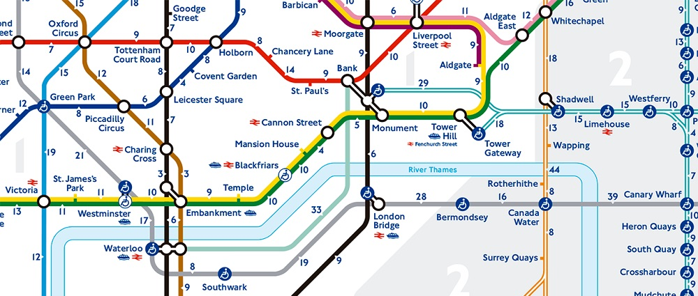 Cartina Londra Con Monumenti.Mappa Di Londra Da Stampare Metropolitana Treni E Autobus